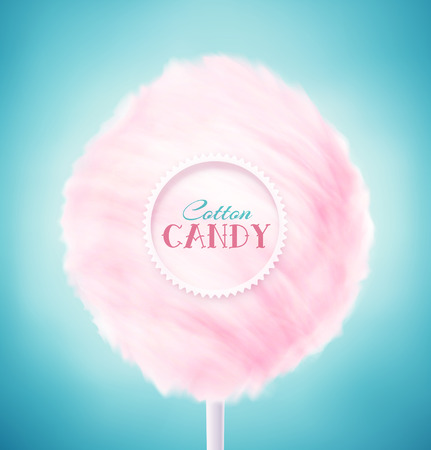 Illustration pour Pink cotton candy, eps 10 - image libre de droit