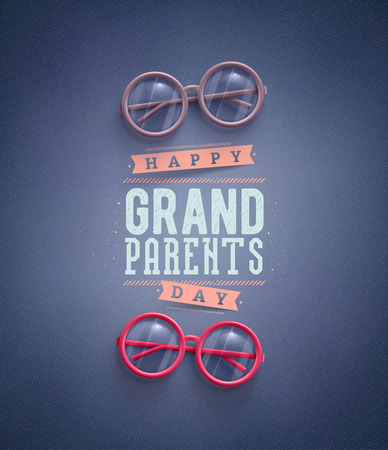Illustration for Happy Grandparents Day, greeting card  - Royalty Free Image