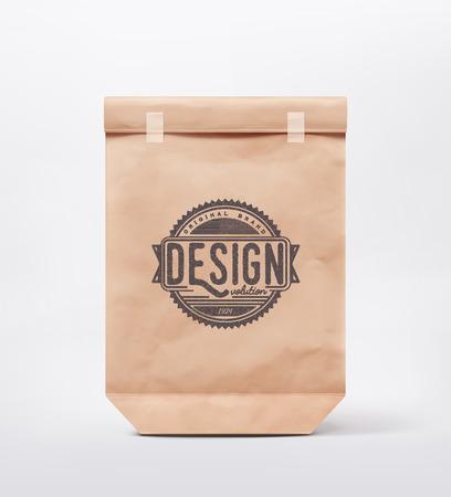 Ilustración de Paper bag for design,  - Imagen libre de derechos