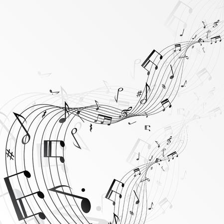 Ilustración de Background with music notes. - Imagen libre de derechos
