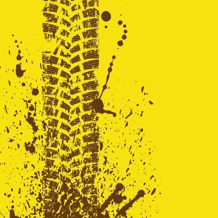 Photo pour Tire track brown - image libre de droit