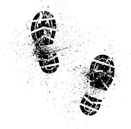 Ilustración de Splash shoe print - Imagen libre de derechos