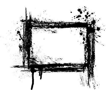 Illustration pour Black grunge frame on white background.  - image libre de droit
