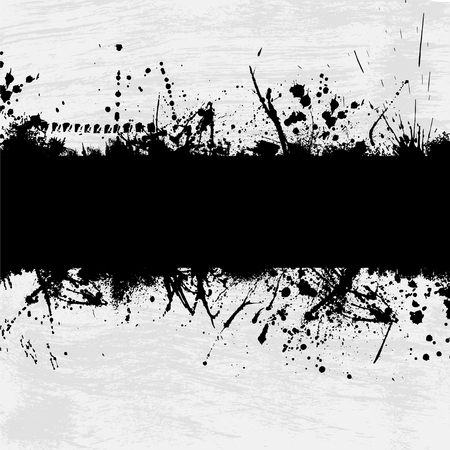 Illustration pour Grunge gray background with abstract ink splash. eps10 - image libre de droit