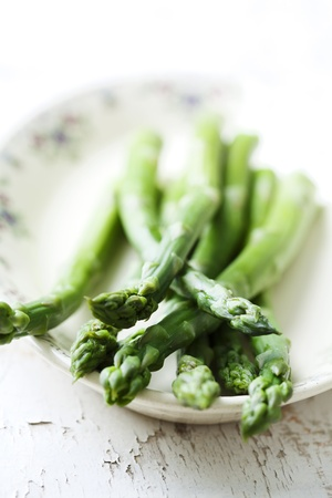 glased green asparagus