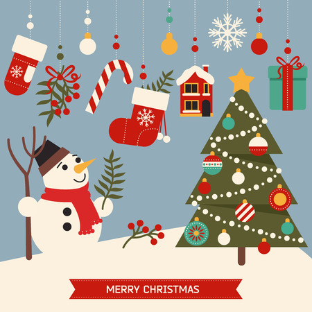 Illustration for Cute merry christmas elements,elements of the new year - Royalty Free Image