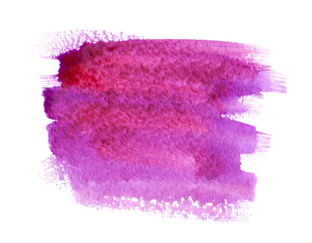 Photo for Pink and purple watercolor paint stain on white background isolated - Royalty Free Image