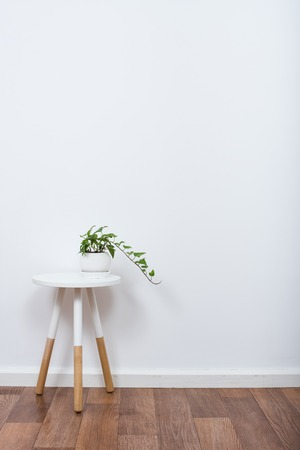 Photo for Scandinavian home interior decoration, simple decor objects and furniture, minimalist white room - Royalty Free Image