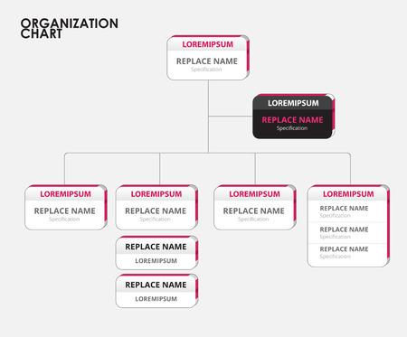 Illustration pour Organization chart infographics with tree. vector illustration - image libre de droit