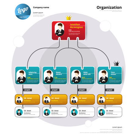 Foto per Organization chart, Corporate structure, Flow of organizational. - Immagine Royalty Free