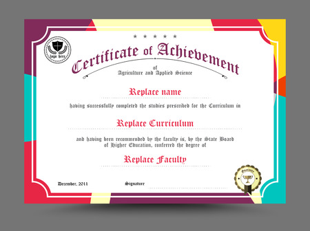 Illustration pour Diploma certificate template design. vector illustration. - image libre de droit