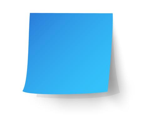 Illustration pour Light blue sticky note, Post-it. vector illustration. - image libre de droit