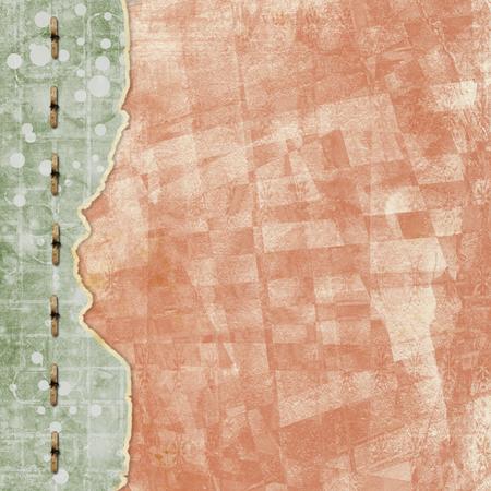 Foto de Old vintage paper album cover with ribbon and rivets for photos - Imagen libre de derechos