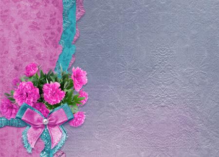 Foto de Old vintage photo album with beautiful pink peonies - Imagen libre de derechos
