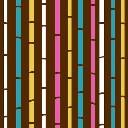 Fresh colorful bamboo pattern stripes