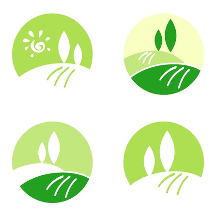Design collection icons: Landscape, Nature and Hills.