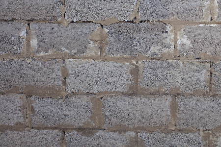 Photo for Old wall made of expanded clay blocks for background and design. Grunge texture. - Royalty Free Image