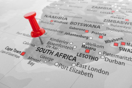 Photo for Red marker over South Africa - Royalty Free Image