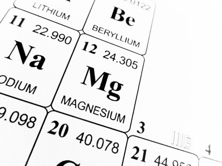 Photo pour Magnesium on the periodic table of the elements - image libre de droit