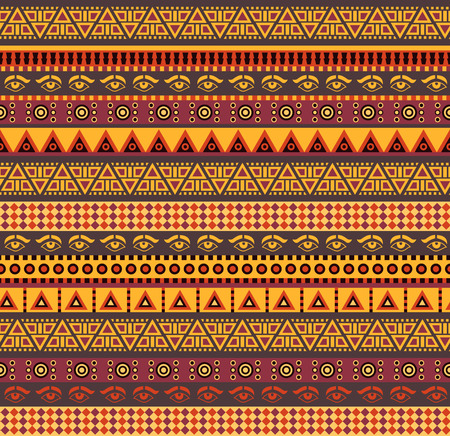 Illustration for amazing african vector seamless pattern with geometric elements - Royalty Free Image