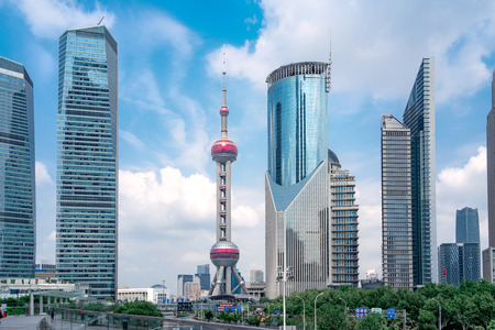 Photo pour Shanghai Pudong Architecture - image libre de droit