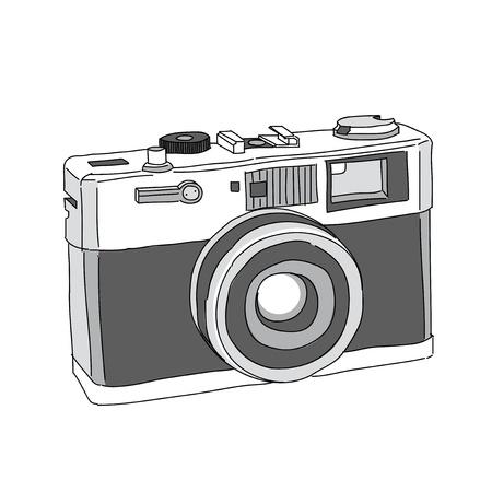 Ilustración de Hand Drawn of Vector Camera - Imagen libre de derechos