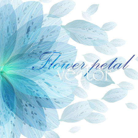 Photo for Floral round pattern of blue flower petals - Royalty Free Image