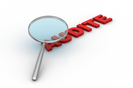 Photo for Audit word under a magnifying glass - Royalty Free Image