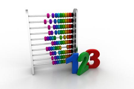 Photo pour Abacus with numbers - image libre de droit
