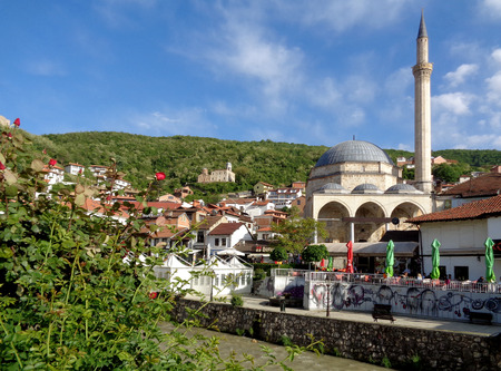 Photo for Prizren Old City with the Famous Landmark, Sinan Pasha Mosque, Kosovo - Royalty Free Image