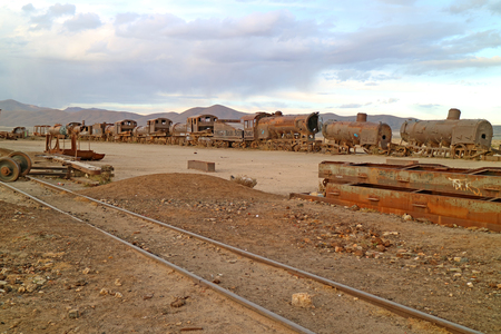 Great Train Graveyard in the Town of Uyuni, Bolivia, One of the World's Largest Antique Train Cemeteries