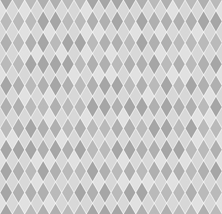 Ilustración de Diamond pattern. Seamless vector geometric background with light gray and dark gray lozenges on white backdrop - Imagen libre de derechos