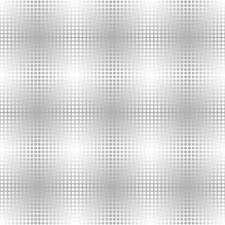 Illustration pour Silver metallic dot pattern. Vector seamless background - gray and white circles on gradient backdrop - image libre de droit