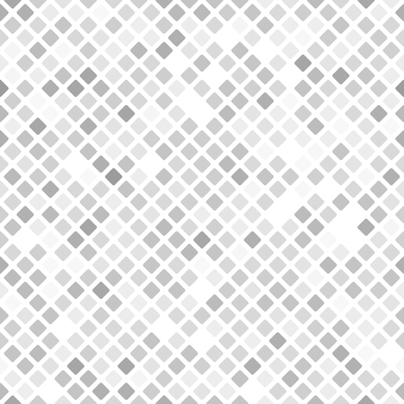 Illustration pour Diamond pattern. Seamless vector background - gray, silver and white rounded diamonds on white backdrop - image libre de droit
