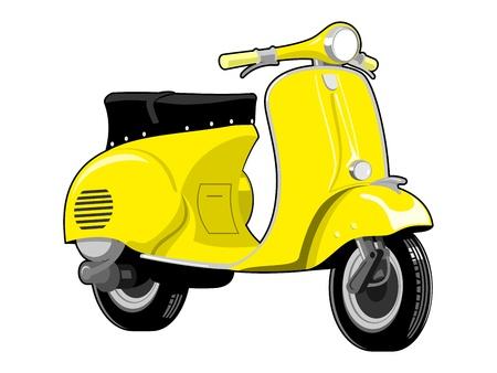 Illustration pour Scooter motorcycle vintage  - image libre de droit