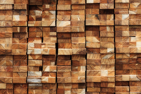 Photo for Wood timber construction material for background and texture. - Royalty Free Image
