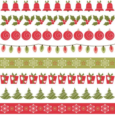 Ilustración de Christmas borders - Imagen libre de derechos
