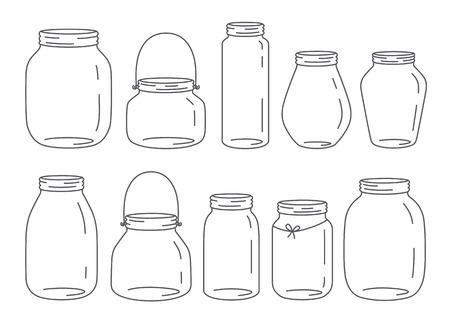 Ilustración de Vector jars set - Imagen libre de derechos