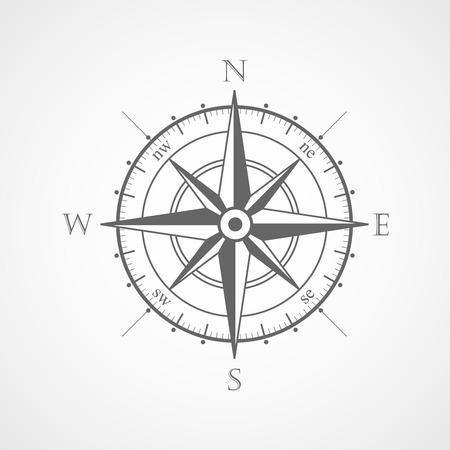 Ilustración de Wind rose compass vector symbol - Imagen libre de derechos