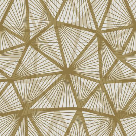 Illustration for Seamless vintage wallpaper pattern. Geometric decorative background. - Royalty Free Image