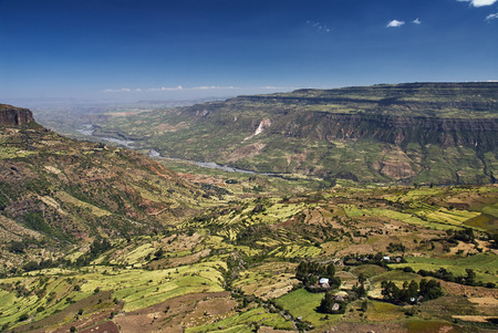 Photo pour Rift Valley in Ethiopia close to Debre Libanos - image libre de droit