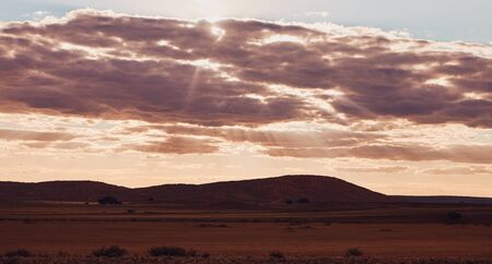 Photo for Beautiful Namibia landscape photographed at the last  lights of the day. - Royalty Free Image