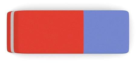 Foto de top view of one eraser (3d render) - Imagen libre de derechos