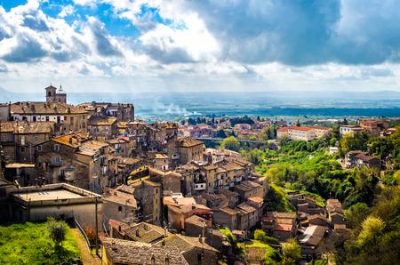 Foto per Caprarola latium village panorama - landscapes Viterbo province - Italy - Immagine Royalty Free
