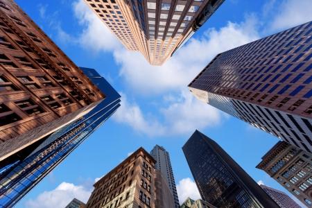Photo pour Skyscrapers in downtown - image libre de droit