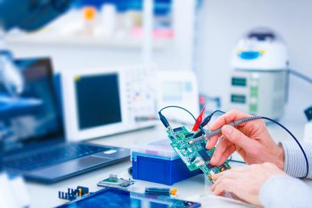 Foto de printed circuit board for the robot - Imagen libre de derechos