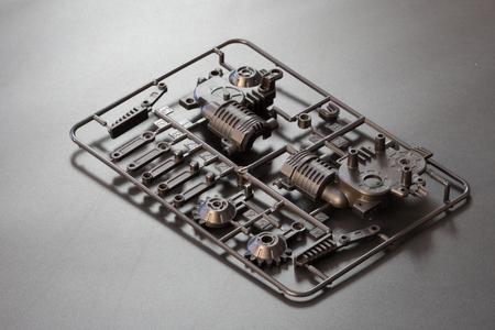 Foto de Industrial injection molding press  the manufacture of plastic parts  - Imagen libre de derechos