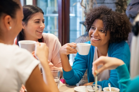 Photo for  Friends girls together on coffee  - Royalty Free Image