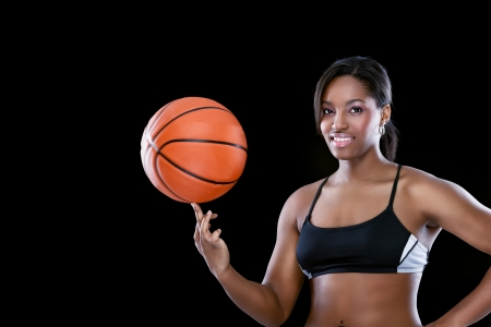 Attractive African female basketball