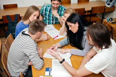 Photo for group of student studying together - Royalty Free Image